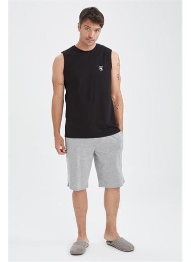 DeFacto Regular Fit Pijama Takımı Siyah
